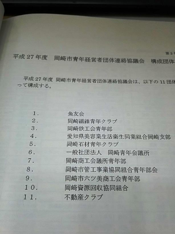 岡崎市青年経営者団体連絡協議会